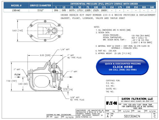 Link to 230-AC Outline Drawing (PDF)
